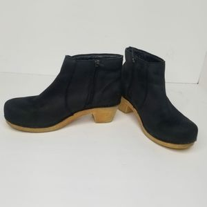 Dansko Maria Bootie Ankle Clog Black Leather
